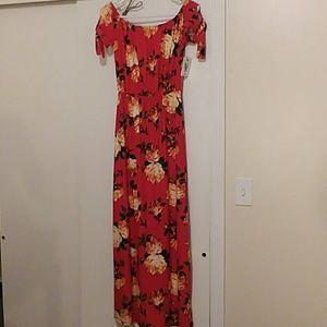 Gorgeous NWT Floor Length Floral Dress